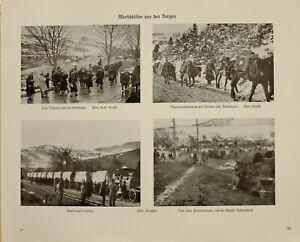 1916 Wwi Ww1 Imprimé Allemand Magazine Munition Transport Waggons Soldats ArôMe Parfumé