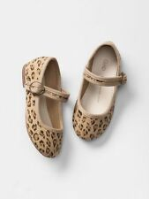 GAP Baby / Toddler Girls Size 5 US Leopard Canvas Mary Jane Ballet Flats Shoes
