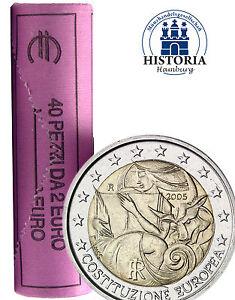 40 Münzen Italien 2 Euro 2005 Konstitution Verfassung Gedenkmünzen
