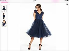Chi Chi Navy Dress Worn Once RRP £80 Size 8