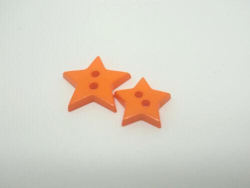 B599-10pcs 13-17mm LITTLE BABY STAR SHAPE PLASTIC ITALIAN FLAT BUTTONS-CHRISTMAS