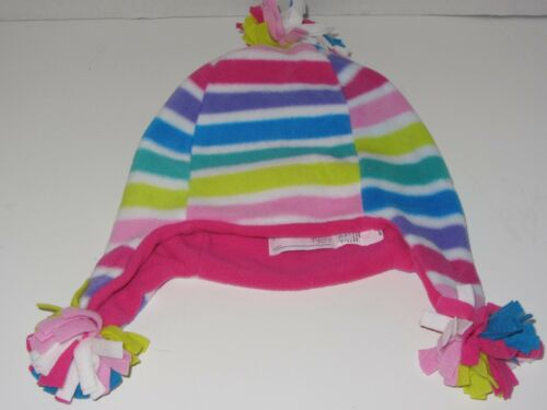 NWT Childrens Place Baby Toddler Girl Striped Winter Hat SZ 6-12 Months 2-4 T