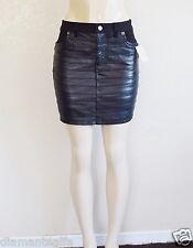 "GUESS Women's Front Pleated Denim Skirt ""SAMPLE"" - Black sz 27"