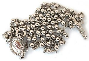 Silver-rosary-925-sterling-silver-12-6-039-039-from-Medjugorje-BAG