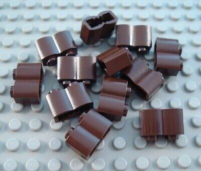 LEGO Lot of 12 Dark Brown 1x2 Log Brick Pieces