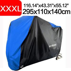 XXXL-Motorcycle-Motorbike-Cover-Waterproof-Outdoor-Rain-Scooter-Protector-Blue
