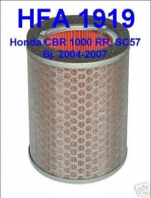 1x HFA1919 - Air Filters Honda CBR 1000 RR, CBR1000, Fireblade, SC57, 04-07