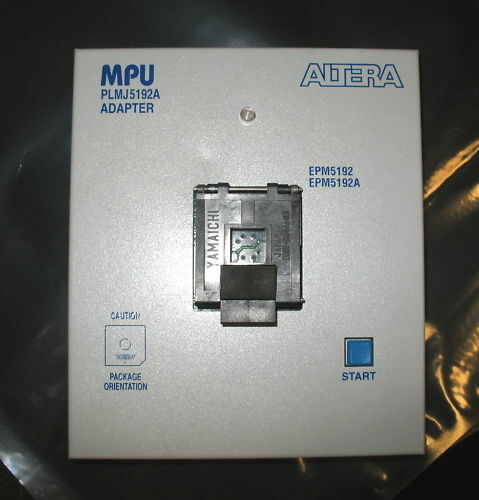 ALTERA MPU PLMJ5192A J-LEAD 84-PIN PROGRAMMING ADAPTER
