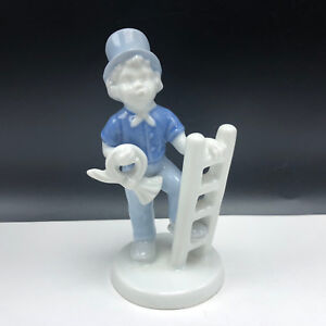 Germany Gerold Porzellan Bavaria Porcelain Boy Ladder W