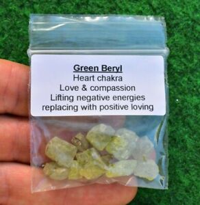 Green Beryl Crystal Mineral Gemstone, Heliodor Emerald ✔ UK BUY 5-15 Piece = 10g