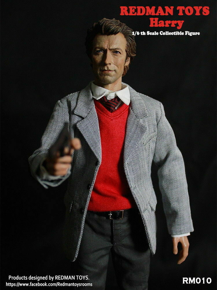 1 6 REDMAN TOYS RM010 Inspector Harry Dirty Harry (1971) (1971) (1971) Action Figure Collect 7d57ff