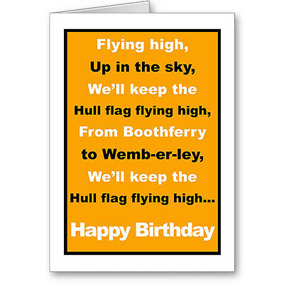 Unique Typographic FULHAM Football FAN Birthday Card Gift