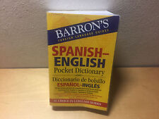 Used - BARRON'S Pocket Dictionary Spanish - English - Diccionario Español Inglés