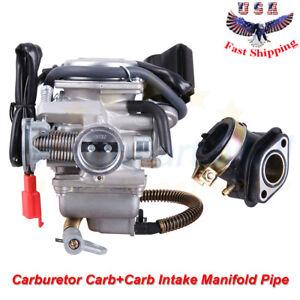 gy6 150cc carburetor carb\u0026 intake manifold for atv gokart roketa