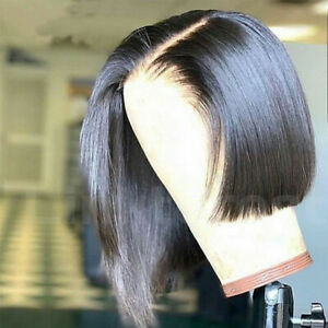 Glueless-Short-Bob-Full-Wig-Indian-Remy-Human-Hair-Lace-Front-Wigs-Baby-Hair-P94