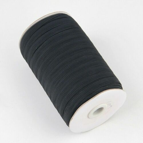 Elastic Bands White Black 5 Meters Polyester Clothes Garment Sewing Accessories