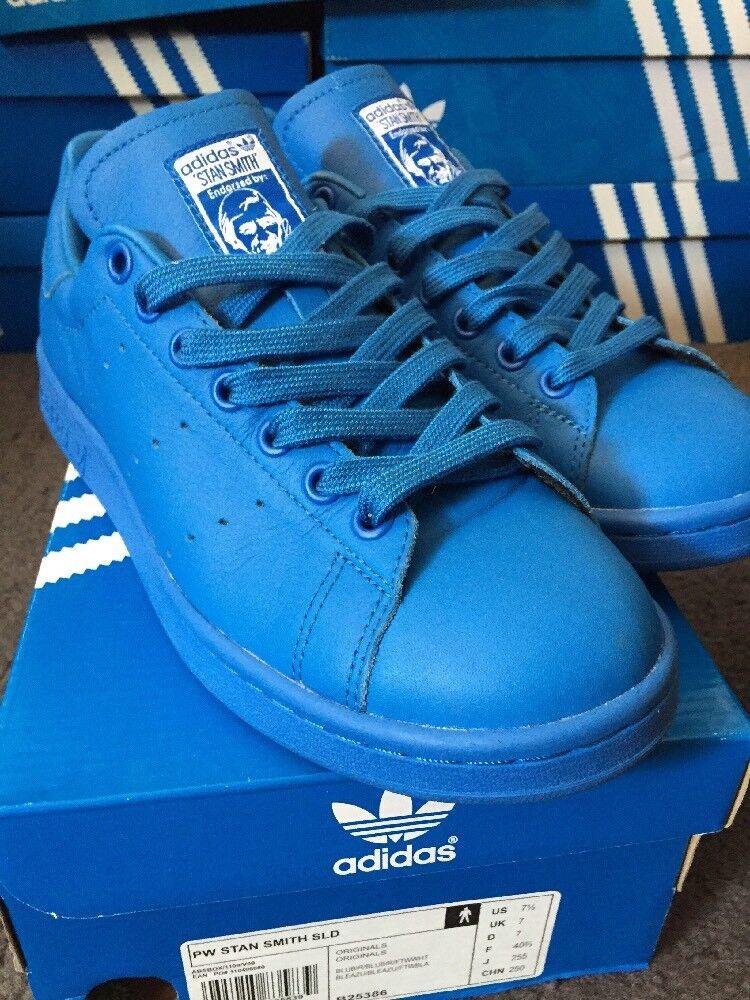 Adidas Originals Pharrell Williams Stan Smith bleu Solid Uk 7