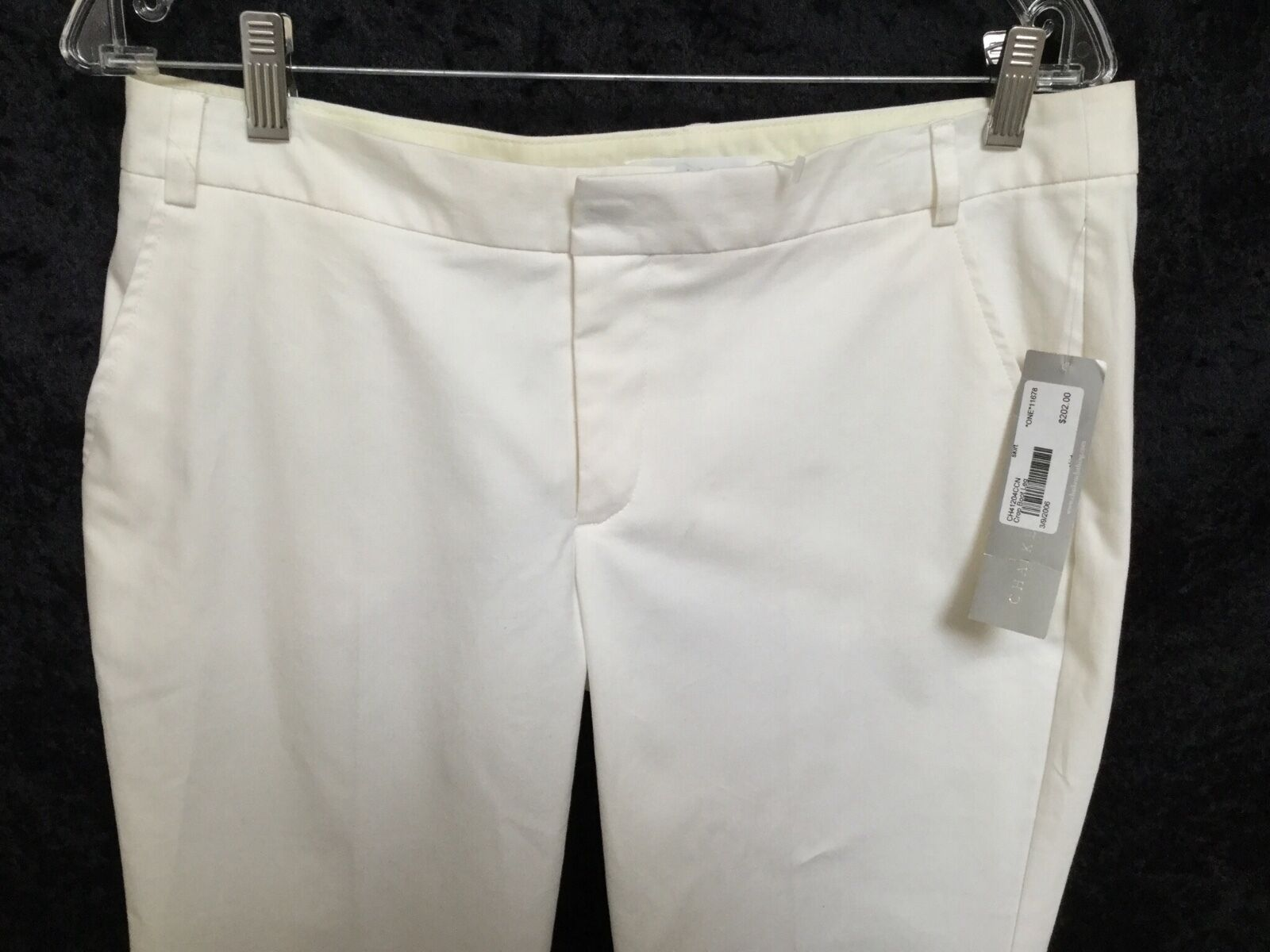 NWT CHAIKEN Cropped Stretch Boot Pant- White- Size 10- Sells New for 202