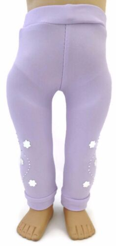 Lavender Leggings with Silver Accents fits 18 inch American Girl Doll Clothes