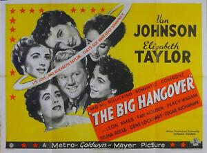 BIG HANGOVER 1950 Elizabeth Taylor Van Johnson UK QUAD POSTER | eBay