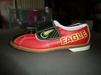 Mens Eagle Rental Velcro Glow Red/black Bowling Shoes