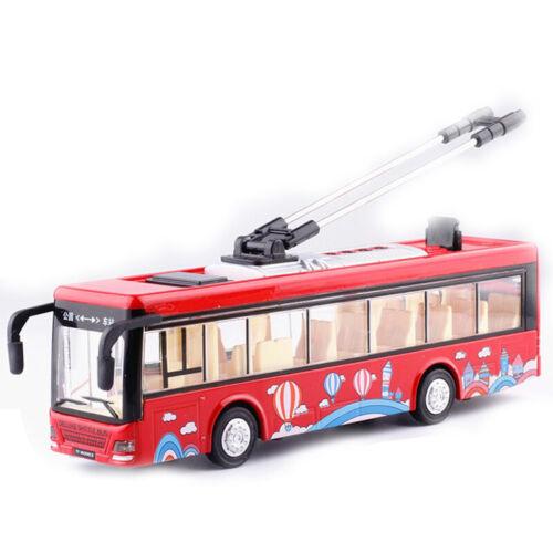 Kinder Spielzeug Alloy Besichtigung Bus Modell 1//32 Trolleybus Diecast Tram X5H6