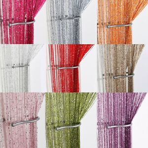 Glitter-String-Curtain-Panels-Fly-Screen-amp-Room-Divider-Voile-Net-Curtains