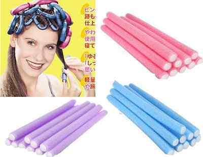 10 Pcs Curler Makers Soft Foam Bendy Twist Curls Tool DIY Styling Hair Rollers