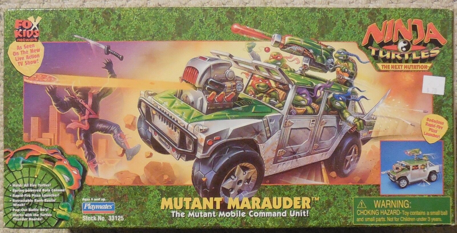 Tmnt Playmates Mutant Marauder Misb Neu Humvee Mutant Mobile Command Unit