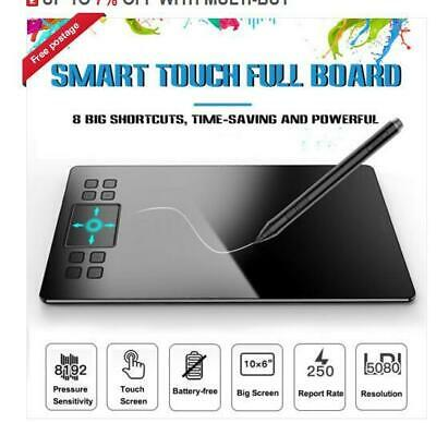 """Veikk A15 10x6/"""" Drawing GraphicTablet 12hotkeys 250PPS Battery-free pen 8192"""