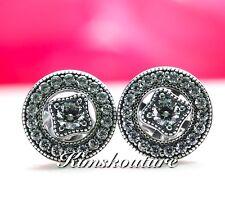 63047bb2d6024 Genuine Authentic PANDORA Silver Vintage Allure Stud Earrings ...
