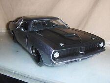 Toy Jada Dub 1:24 Grey 1973 Plymouth Barracuda Hot Rod diecast car