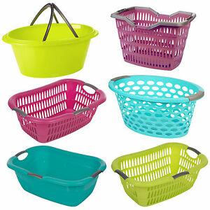Large Laundry Baskets With Easy Grip Handles Storage