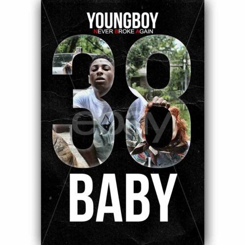 New NBA YoungBoy 38 Baby Custom Silk Poster Wall Decor 20x13 Inch