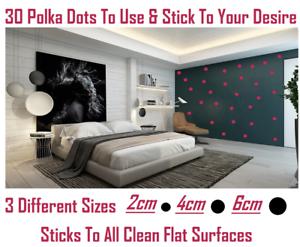 3 Sizes! Polka Dot Wall Stickers Decal Child Kids Vinyl Art Decor Spots Circle