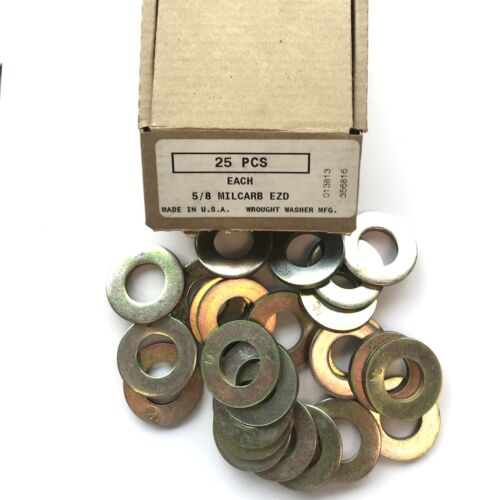 5//8 MILCARB EZD Steel Washer Grade 8 SAE Box of 25