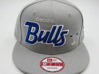 Chicago Bulls Throwback Gray 9FIFTY NBA New Era Custom Snapback Hat Cap