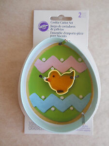 Wilton Metal Cookie Cutter Set Egg Mini Chick W4455