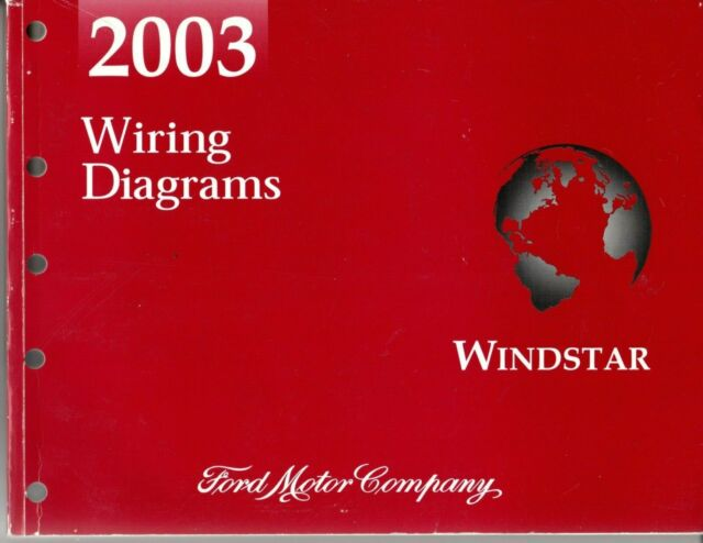 2003 Ford Windstar Official Oem Wiring Diagrams Manual Pg
