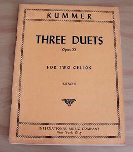 Kummer-3-duos-pour-2-violoncelles-Partition-occasion