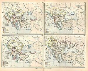 Carte Europe Du Sud Est.Carte Antique L Europe Du Sud Est 1401 1672 Possessions Grecque D