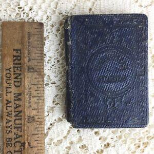 Antique Miniature Book Aunt Lauras Christmas Stories 1862 Victorian Doll House