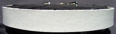 "5/8"" Premium Hand Painted White Leather Choker Necklace Free Custom Sizing!"