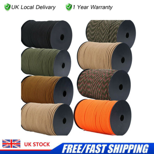 Details about  /100FT Army Military Paracord Reel Bivi Camping Guy Rope Para Cord 4mm Basha Tent
