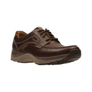 Clarks Francis Air - Zapatos de cordones de cuero para hombre marrón marrón One Size Fits All, Black Leather, UK8