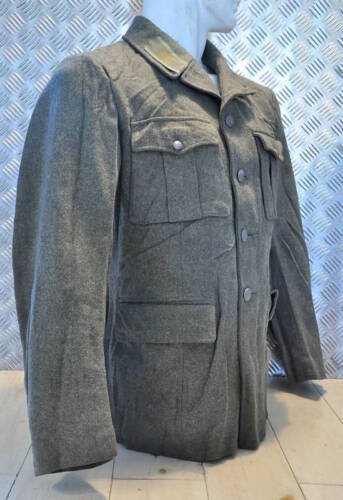 Size 98cms Chest Genuine Swedish M39 Army Fitted Wool Jacket 1940/'s WWII