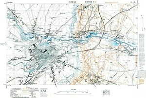 Trench Map WW1, Arras, March 1917, 1:10,000 scale Ordnance Survey ...
