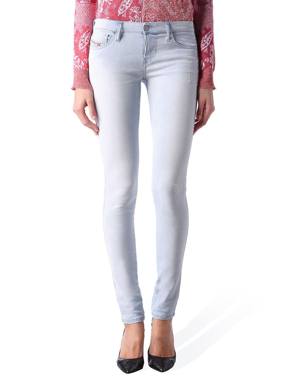 Diesel Skinzee-Low 0852q Ladies Jeans Trousers Skinny