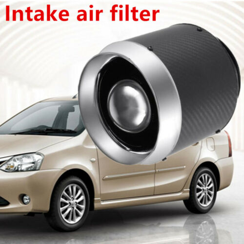 """1xCarbon Fiber 3/""""Inlet //5/"""" Air Filter Wide Usage For Cold Air//Short Ram Intakes"""