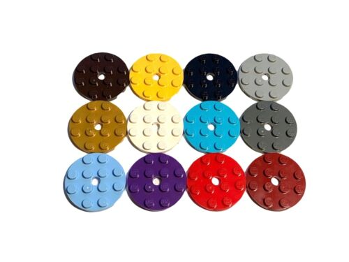 LEGO 60474 4X4 Round Plate - Select Colour  FREE P&P